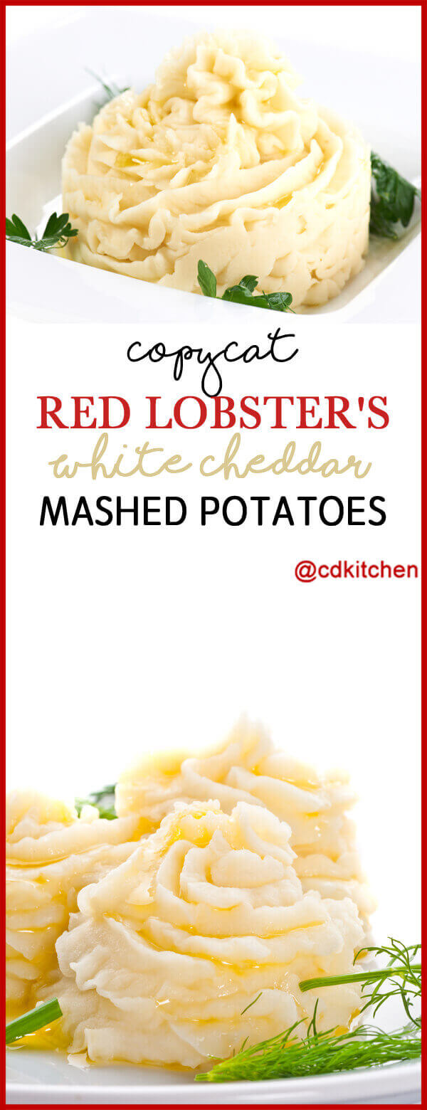Made with potatoes, butter, heavy cream, sour cream, white Cheddar cheese, salt, white pepper | CDKitchen.com