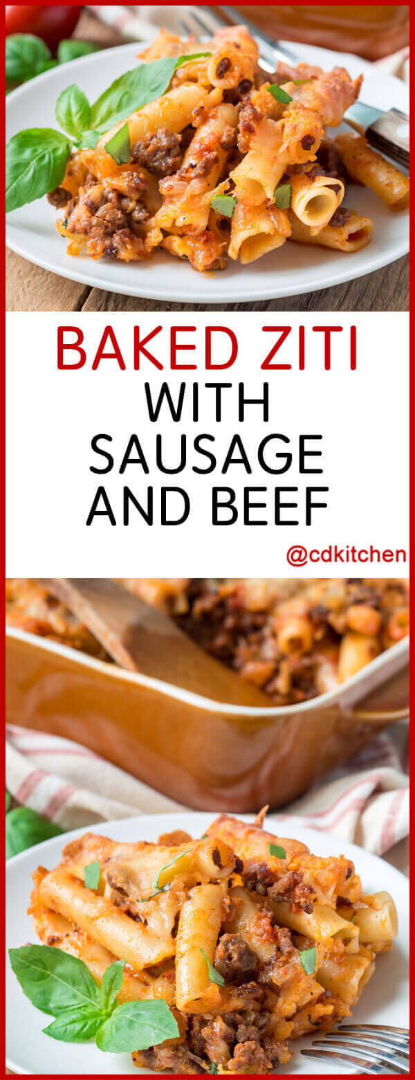baked ziti with sausage and ground beef