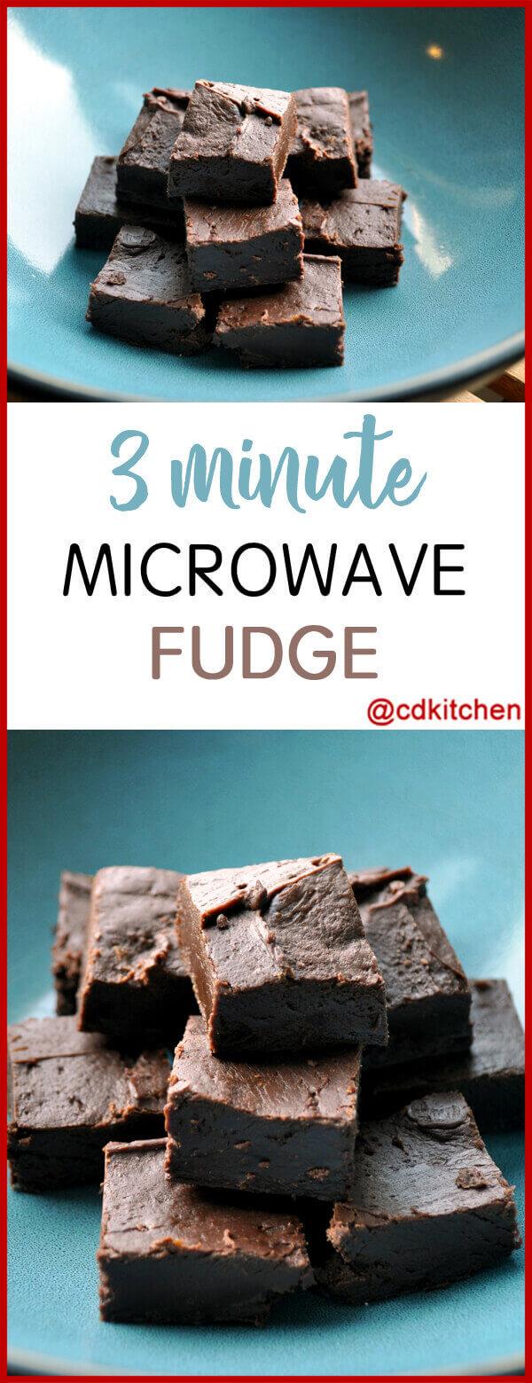 Three Minute Microwave Fudge Recipe