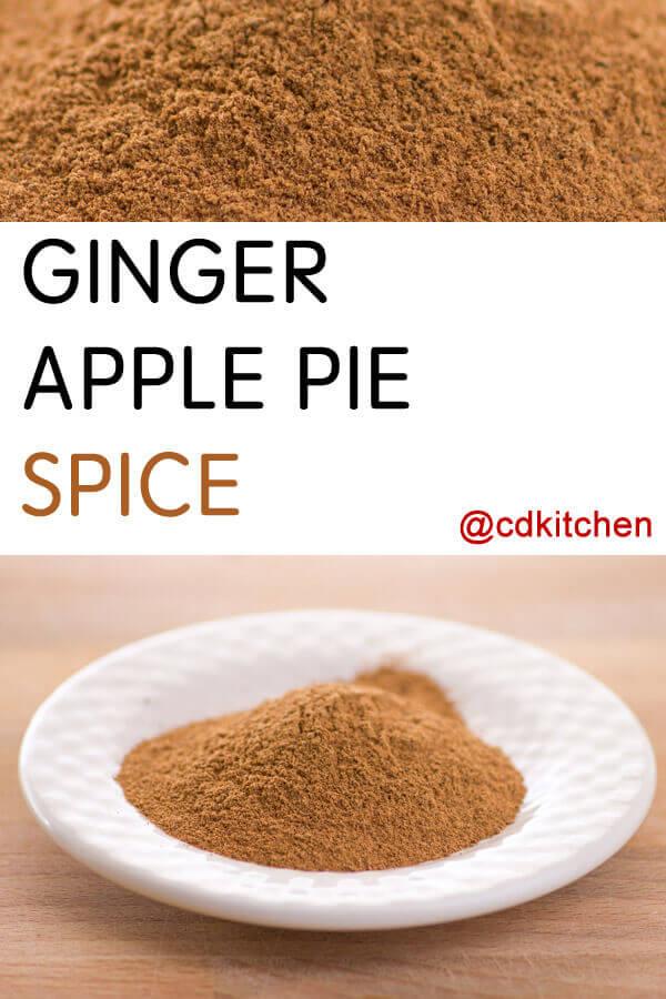 Ginger Apple Pie Spice Recipe from CDKitchen.com