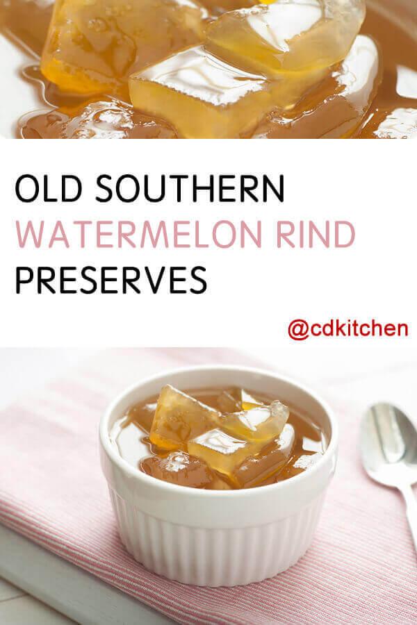 Recette de conserves de zeste de pastèque du sud