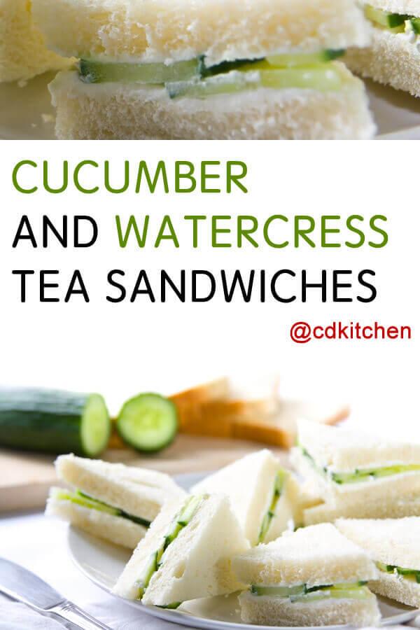 Cucumber And Watercress Tea Sandwich Recipe Cdkitchencom