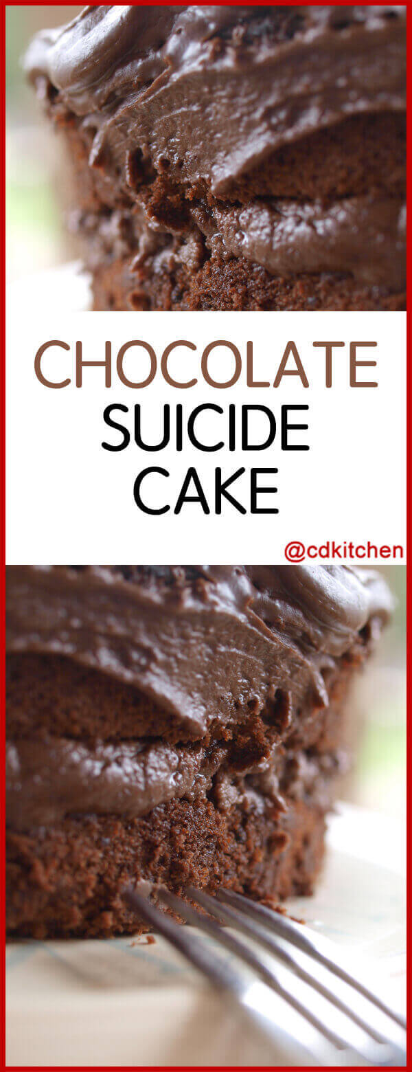 Chocolate Suicide Cake Recipe Cdkitchen Com