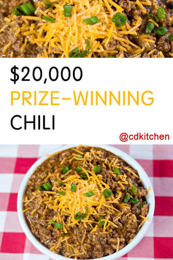 20000 Prize Winning Chili Recipe Cdkitchen Com