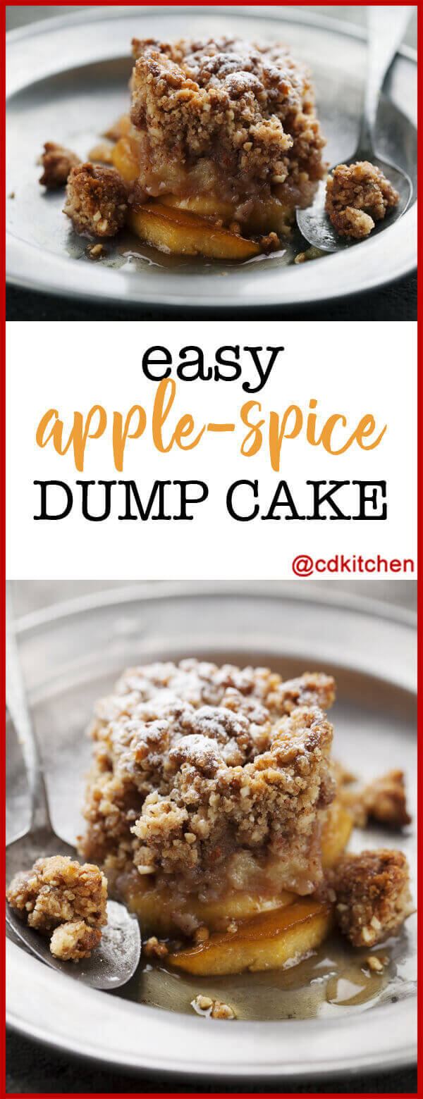Apple Dump Cake Using Canned Apples