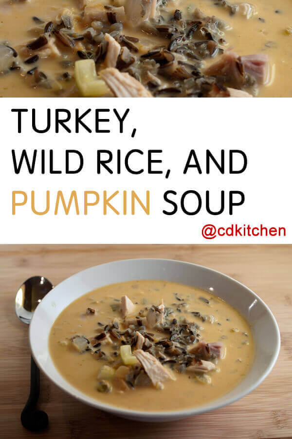 Turkey, Wild Rice and Pumpkin Soup Recipe | CDKitchen.com