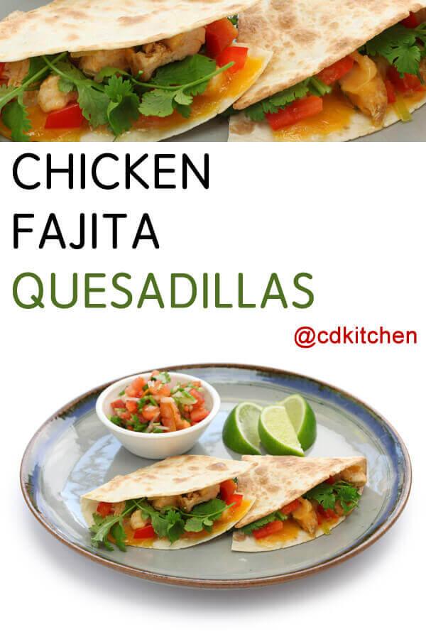 Chicken Fajita Quesadillas Recipe | CDKitchen.com