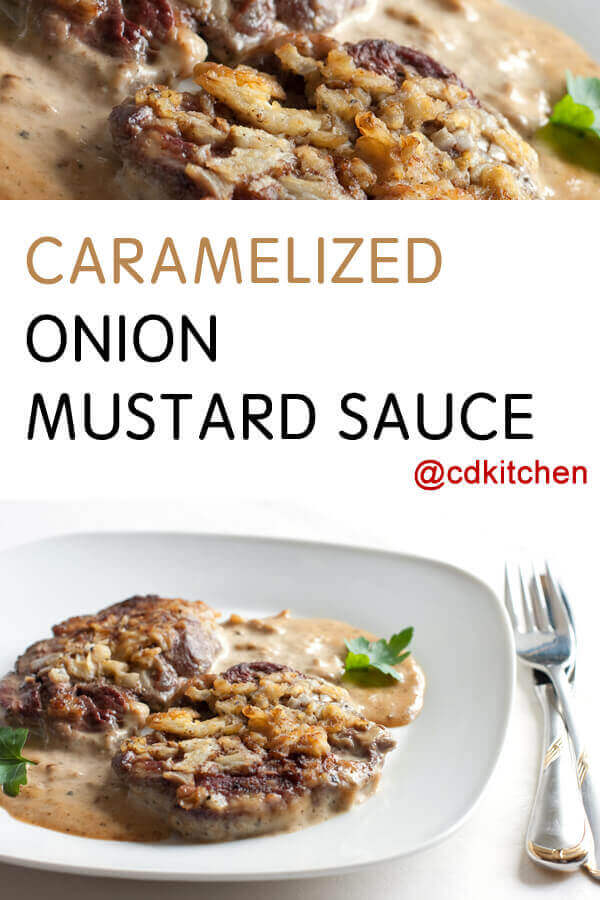 Chinese Mustard Sauce Made With Butter Vegetable Oil Sweet Onion Thyme White Wine Sherry