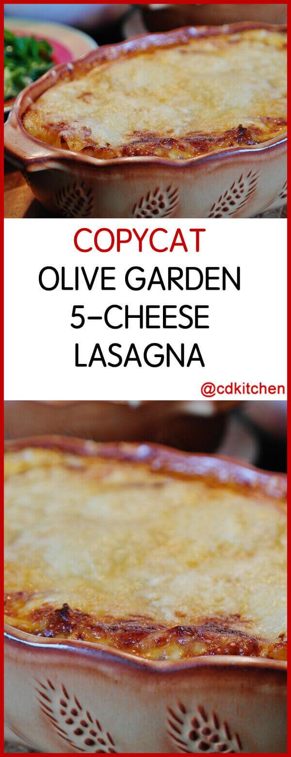 olive garden 5 cheese lasagna recipe - Olive Garden Lasagna Recipe