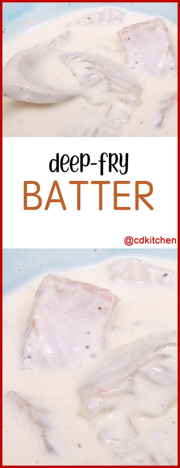 Deep fry batter recipe for Light batter for fish