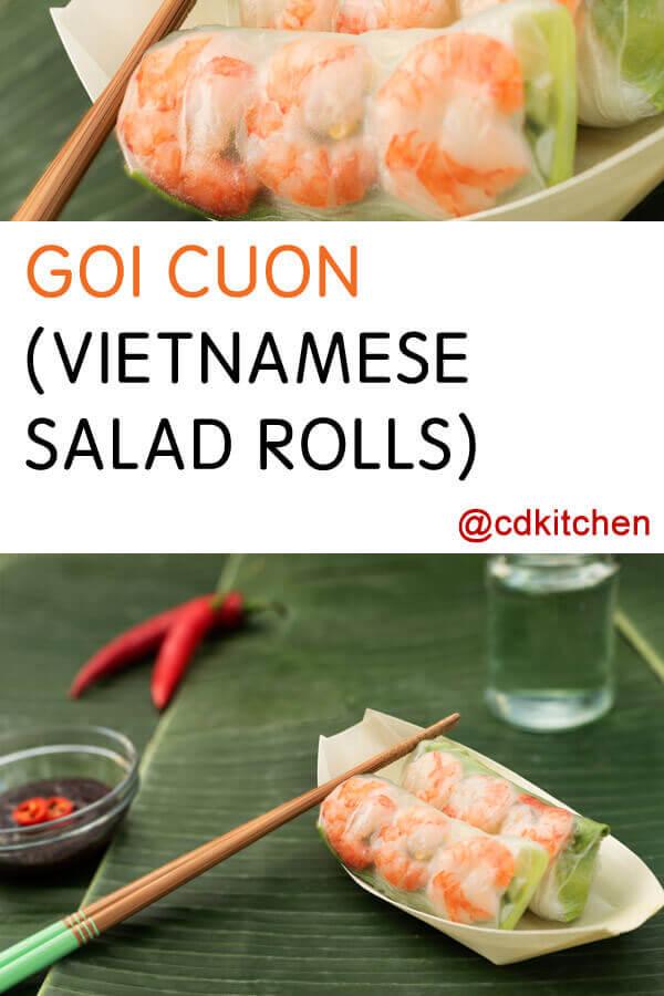 Goi Cuon (Vietnamese Salad Rolls) Recipe | CDKitchen.com