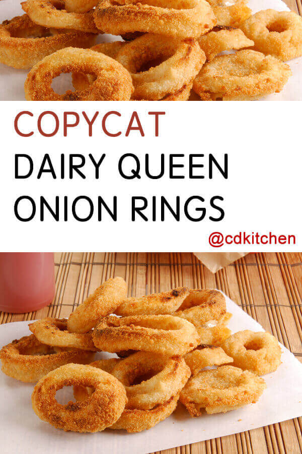 Do Onion Rings Have Dairy