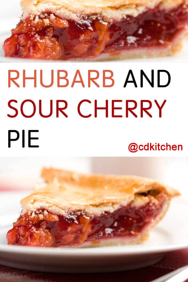 Rhubarb And Sour Cherry Pie Recipe | CDKitchen.com