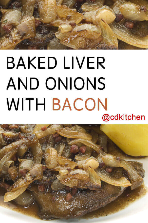 Baked liver and onions with bacon recipe for Baked chicken liver recipes