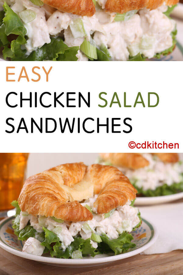 Easy Chicken Salad Sandwiches Recipe | CDKitchen.com