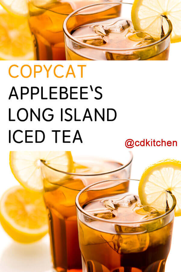 Copycat applebee 39 s long island iced tea recipe for California iced tea recipe