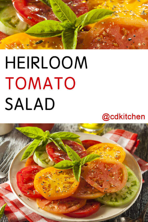 Heirloom Tomato Salad Recipe from CDKitchen.com