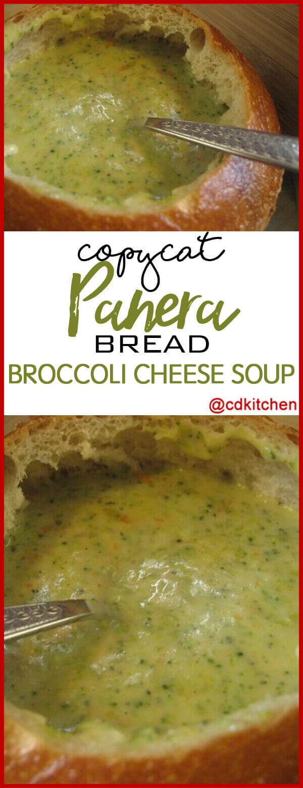 Copycat Panera Bread\'s Broccoli Cheese Soup Recipe | CDKitchen