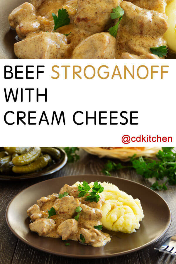 Crock Pot Beef Stroganoff With Cream Cheese Recipe From Cdkitchen Com