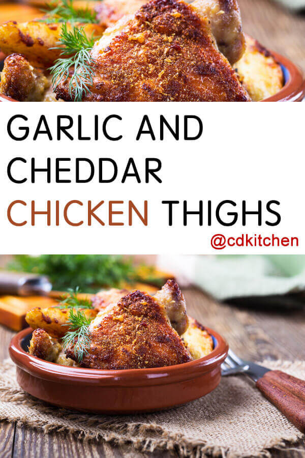 Garlic And Cheddar Chicken Thighs Recipe | CDKitchen.com