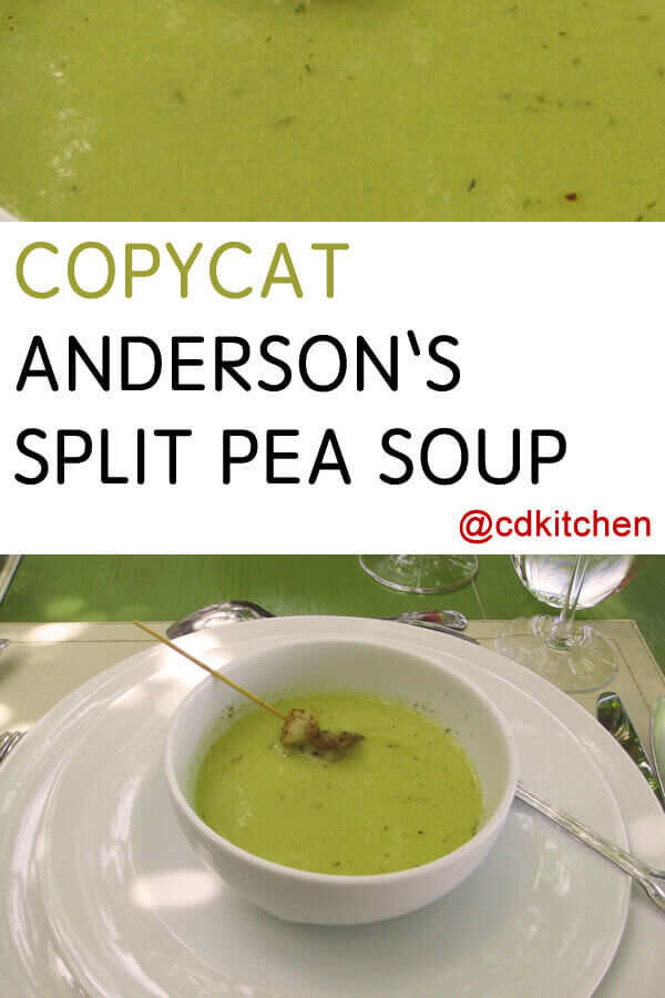 Anderson S Split Pea Soup Recipe Cdkitchen Com