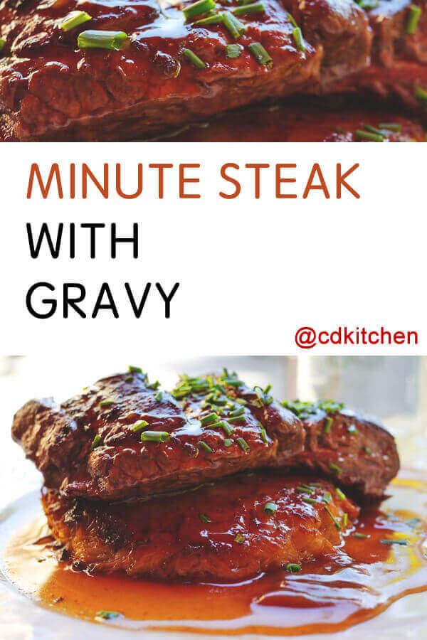 Minute Steak With Gravy Recipe Cdkitchen Com