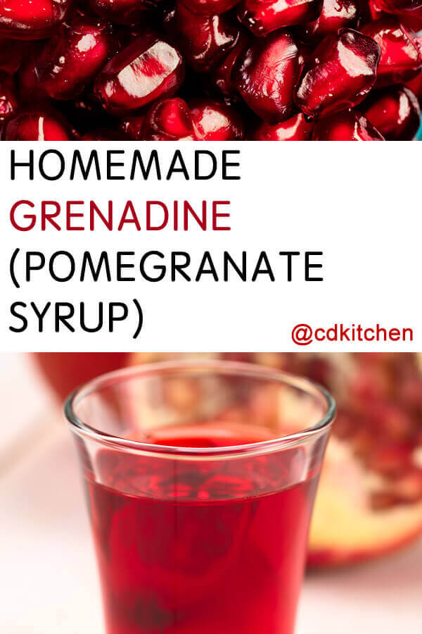 Homemade Grenadine (Pomegranate Syrup) Recipe from CDKitchen