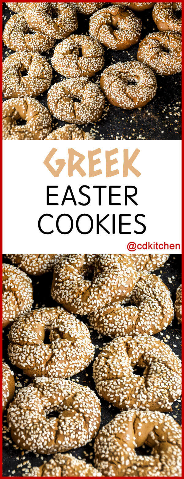 Greek Easter Cookies Recipe | CDKitchen.com