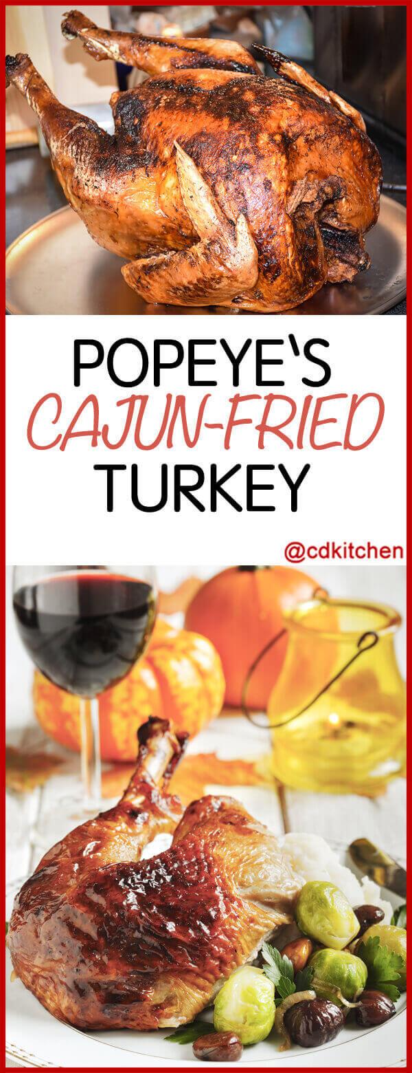 Copycat Popeyes Cajun Fried Turkey Recipe Cdkitchencom