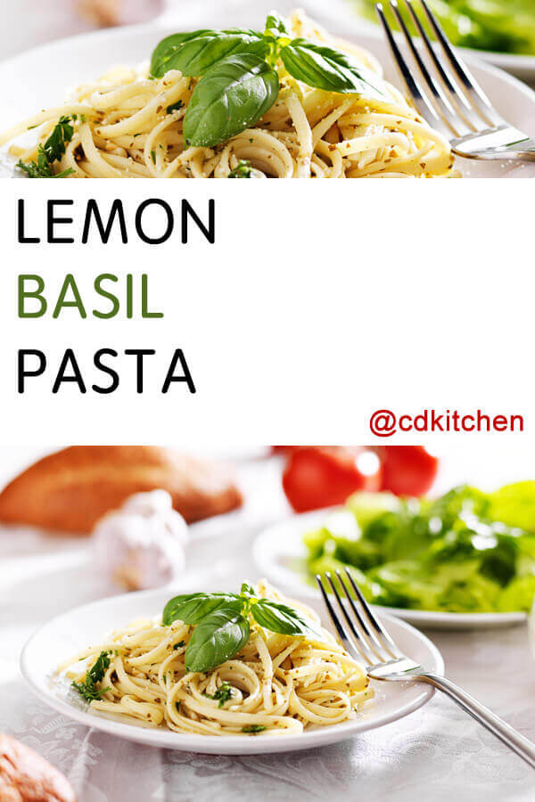 Lemon Basil Pasta Recipe | CDKitchen.com