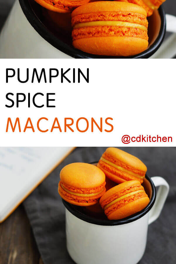 Pumpkin Spice Macarons Recipe from CDKitchen