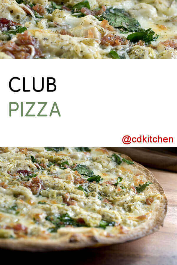 Club pizza recipe from cdkitchen for I want to cook something different for dinner