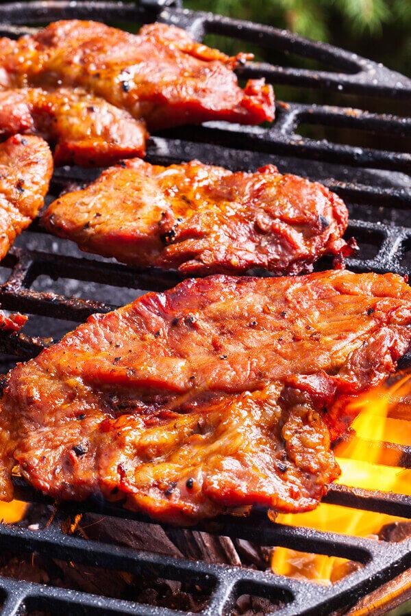 Honey Barbecue Pork Steaks Recipe From Cdkitchen