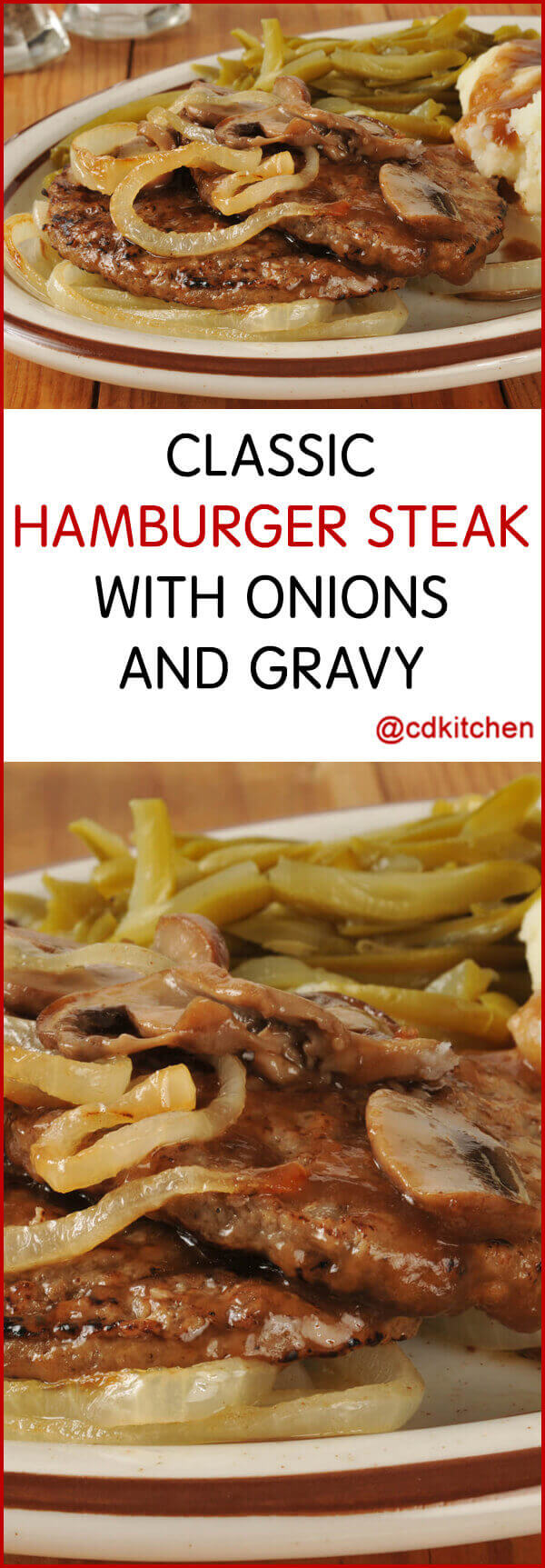 Classic Hamburger Steak With Onions And Gravy Recipe ...