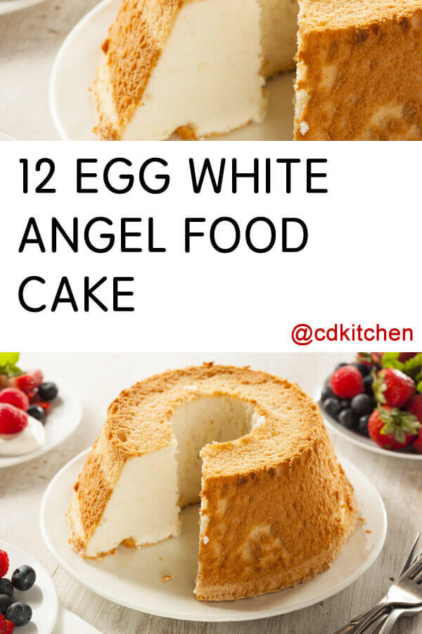 12 egg white angel food cake recipe cdkitchen 12 egg white angel food cake made with cake flour sugar salt forumfinder Gallery
