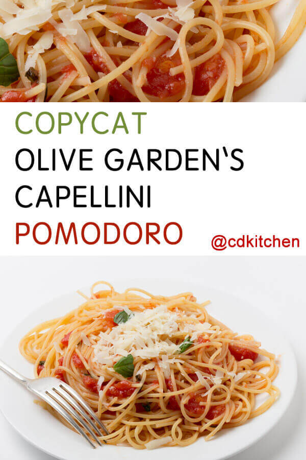 Capellini Pomodoro Olive Garden Copycat Olive G...