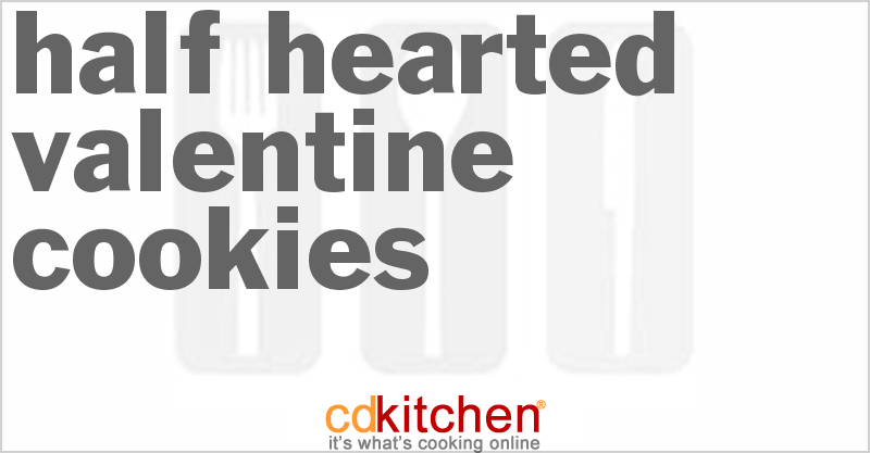 Half Hearted Valentine Cookies Recipe Cdkitchen Com