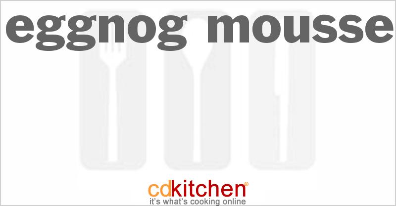 Eggnog Mousse Recipe | CDKitchen.com