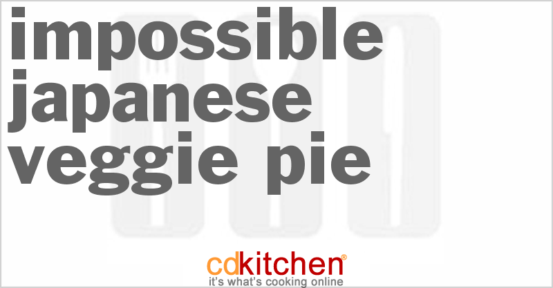 Impossible Japanese Veggie Pie Recipe Cdkitchen Com