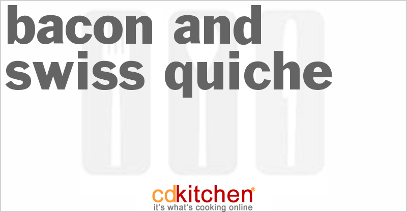 Bacon and Swiss Quiche Recipe | CDKitchen.com