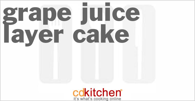 White Grape Juice Pound Cake Recipe
