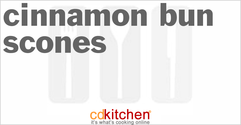 Cinnamon Bun Scones Recipe | CDKitchen.com