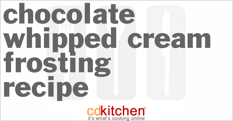 Chocolate Frosting Calories Per Tablespoon