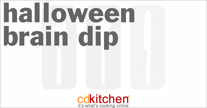 Halloween Brain Dip Recipe from CDKitchen.com