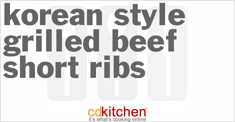short ribs how to cook korean style
