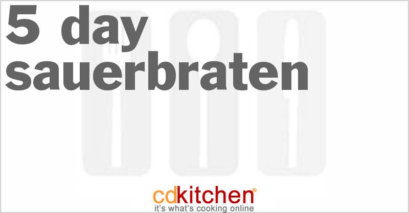 5 Day Sauerbraten Recipe