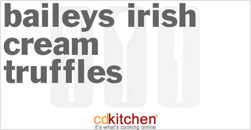 how to make baileys irish cream truffles