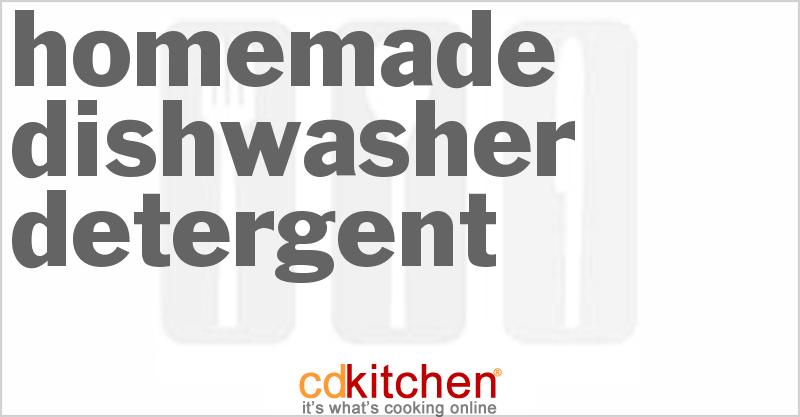 homemade dishwasher detergent recipe. Black Bedroom Furniture Sets. Home Design Ideas