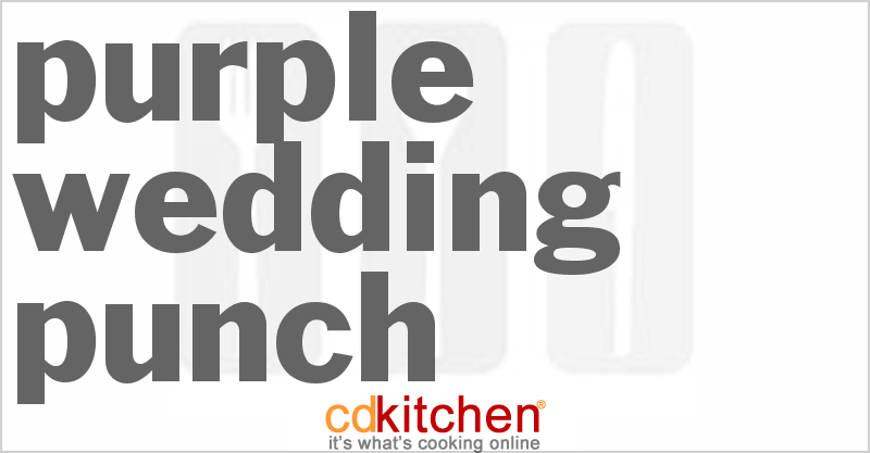Purple wedding punch recipe cdkitchen purple wedding punch print recipe junglespirit Gallery
