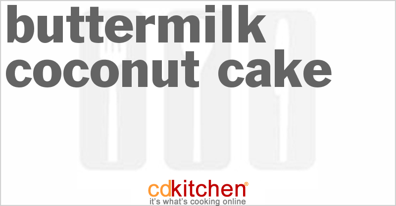 Buttermilk Coconut Cake - CDKitchen.com